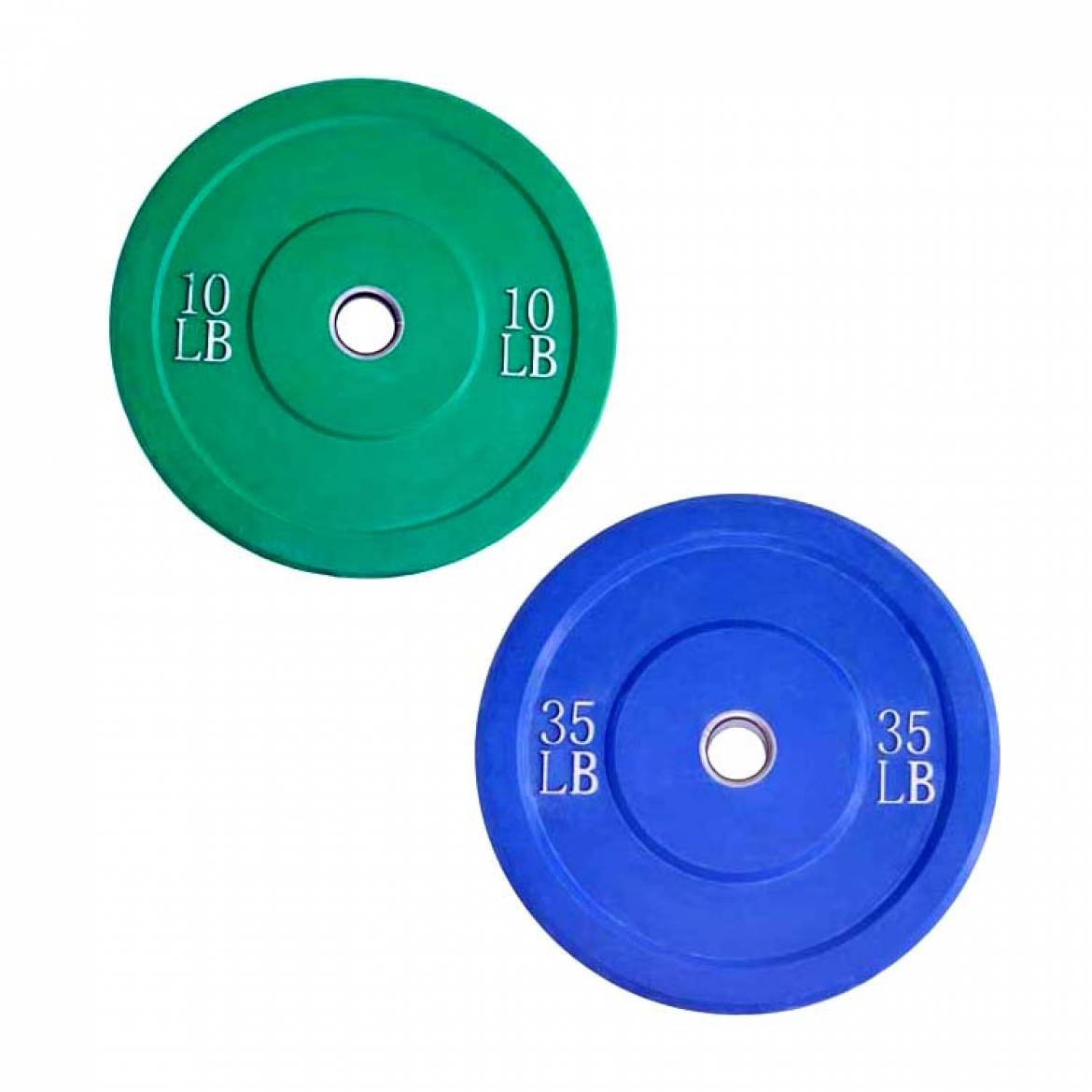 2″ Color Solid Rubber Bumper Plates (No Logo)