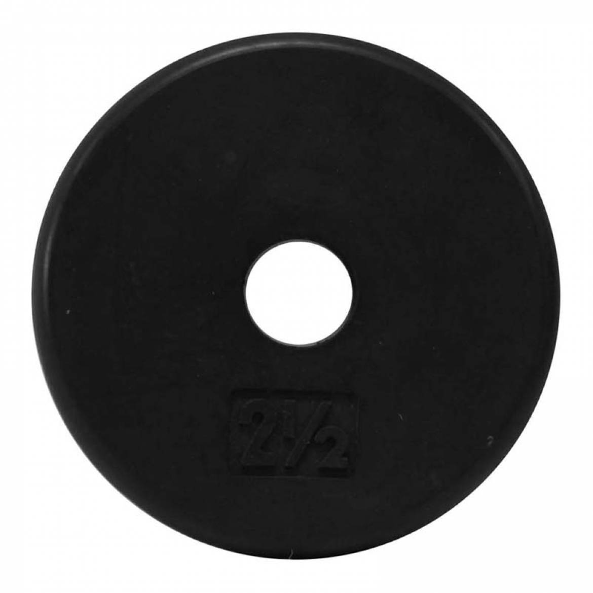 1″ Black Rubber Coated Plates